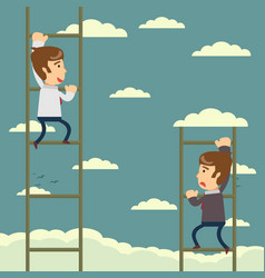 Up the career ladder development motivation vector