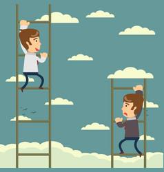Up the career ladder development motivation vector