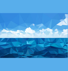 View of the ocean and clouds triangulation mosaic vector
