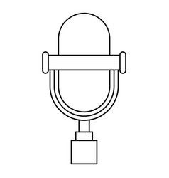 vintage microphone icon outline style vector image vector image