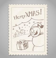 Vintage post stamp vector image
