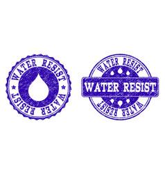 Water resist grunge stamp seals vector