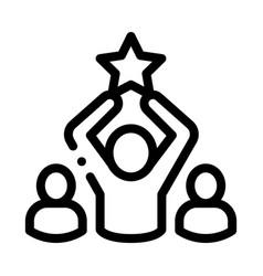 Winner star human talent icon vector