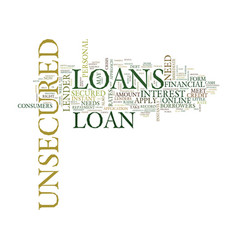 Your fastest route to a quick loan is unsecured vector