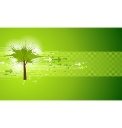Abstract Green Tree Background vector image vector image