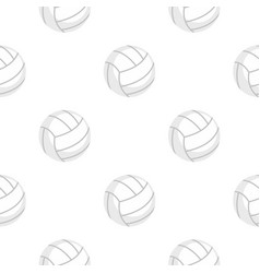 ball for playing volleyball pattern flat vector image