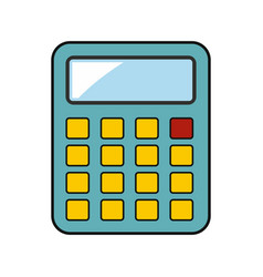 calculator building isolated on a white background vector image vector image