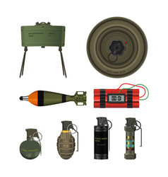 detailed realistic image of hand grenade mine vector image