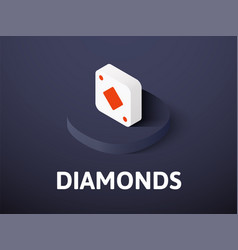 diamonds isometric icon isolated on color vector image