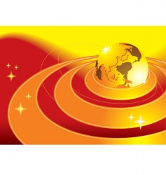 earth background vector image vector image