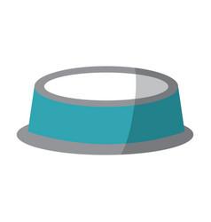 empty bowl food pet accessory icon vector image