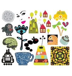 Mix of different images vol63 vector image