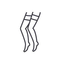 pantyhose line icon sign on vector image vector image