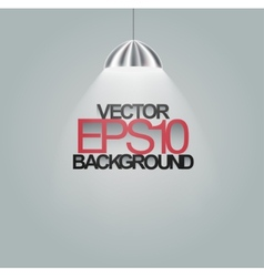 Spotlight Illuminating on grey background vector image