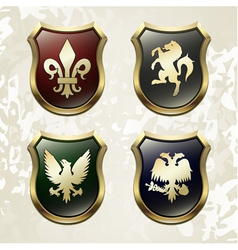 Arms in an heraldry symbolic vector image vector image