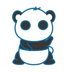 isolated cute panda bear vector image vector image