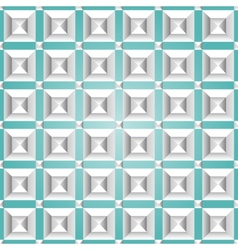 Isometric seamless pattern vector image vector image