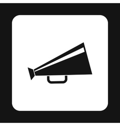 Retro megaphone icon simple style vector image vector image