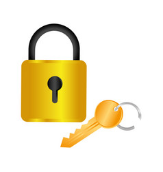colorful square padlock with key vector image