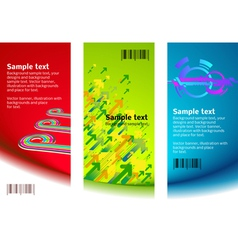 set of banner backgrounds vector image vector image