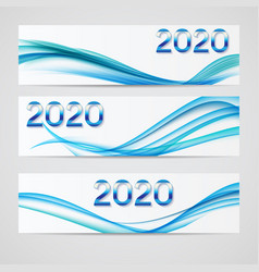 2020 abstract new year on background vector image