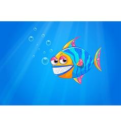 A big smiling fish in the ocean vector
