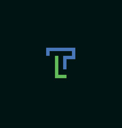 a simple and modern initial tl logo design vector image