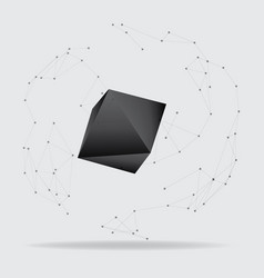 abstract polygonal geometric shape low poly and vector image