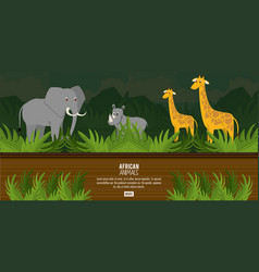 african animals concept vector image