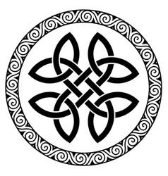 ancient round celtic design celtic knot mandala vector image