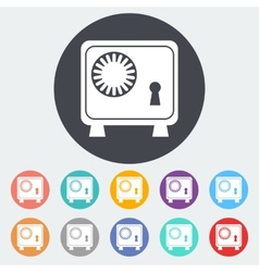 Bank safe icon vector image