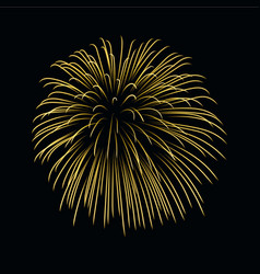 Beautiful gold firework bright firework isolated vector