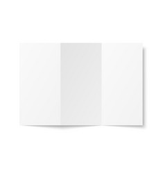 blank white trifold leaflet opened vector image