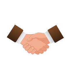 business handshake or contract agreement icon vector image