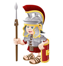 Cartoon roman soldier vector