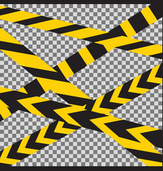caution crossed tapes border vector image