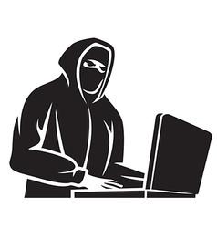 Computer hacker vector image