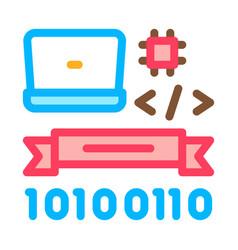computer programming graduation icon vector image