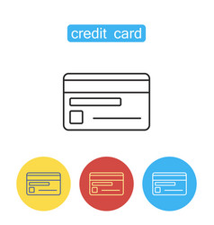 credit card line icon vector image