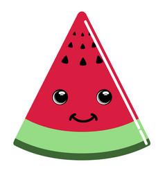cute watermelon emoticon vector image