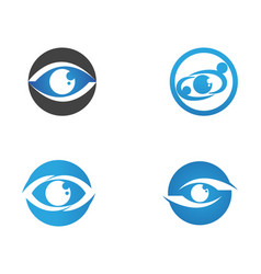 eye care logo and symbols template icons app vector image