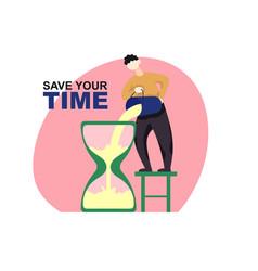 Freelance developer save time color vector