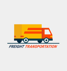 freight transportation concept cargo logistic vector image