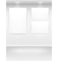 Gallery interior vector