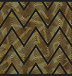 gold zigzag stripes pattern vector image