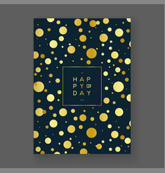 golden foil birthday card vector image