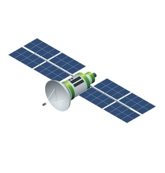 Gps satellite orbiting satellite isolated on vector