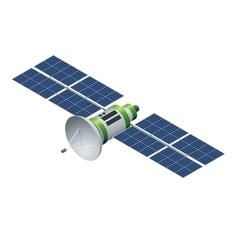 GPS satellite Orbiting satellite isolated on vector
