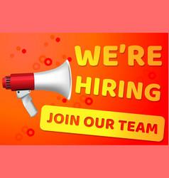 Hiring recruitment design poster open vacancy vector