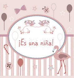 in spanish language vector image